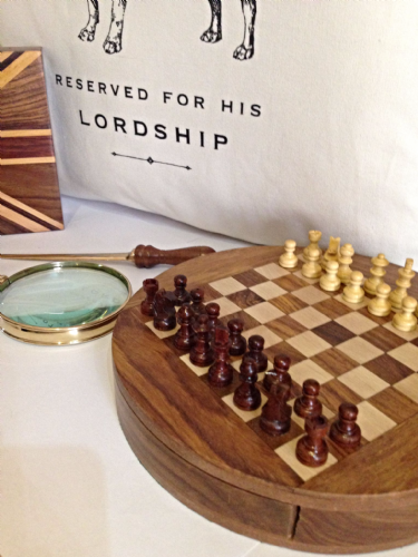 Wooden Chess Set magnetic executive desk accessory gift for fathers day and birthday